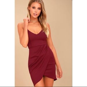 Lulus Forever Your Girl Wine Red Bodycon Dress